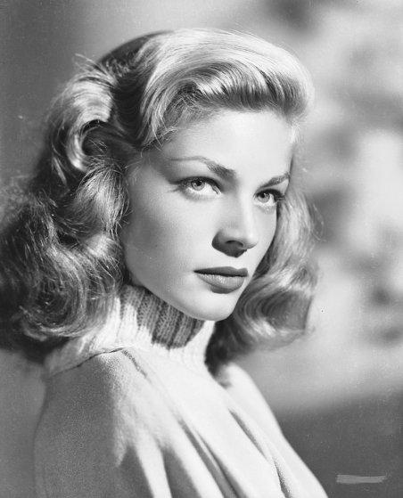 Photo of a young Lauren Bacall