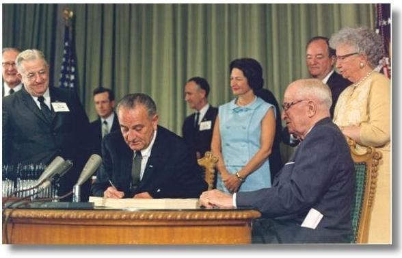 Signing of the Medicare Program into Law